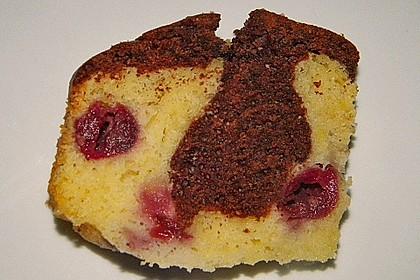 Marmorkuchen mit Kirschen 18