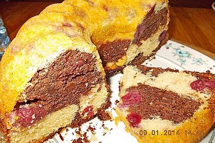 Marmorkuchen mit Kirschen 60