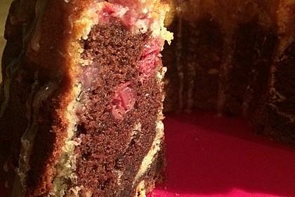 Marmorkuchen mit Kirschen 52