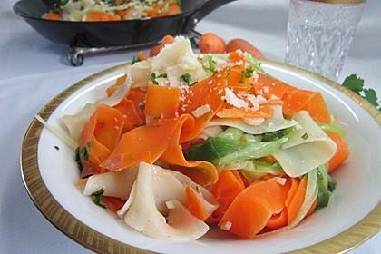 Nudeln mit Gemüse und Frischkäse 3