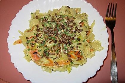 Nudeln mit Gemüse und Frischkäse 7