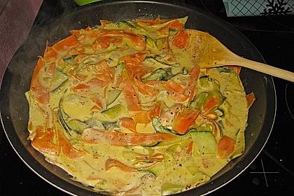 Nudeln mit Gemüse und Frischkäse 8