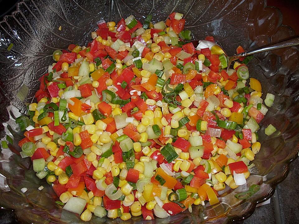 paprika mais salat rezept mit bild von martamausi. Black Bedroom Furniture Sets. Home Design Ideas