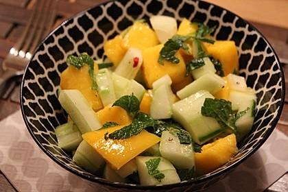 Mango - Gurken - Salat 6