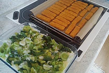 Fischstäbchen auf Kartoffelpüree 8