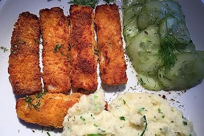 Fischstäbchen auf Kartoffelpüree 4
