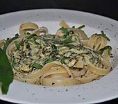 Pfiffige Bärlauch - Sahnesauce zu Pasta