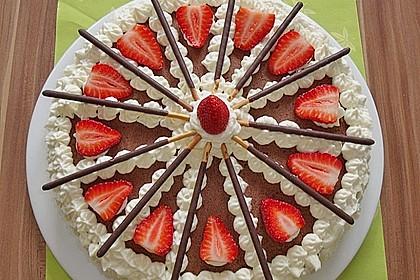 Mikado Erdbeer - Torte mit weißer Schokolade 1