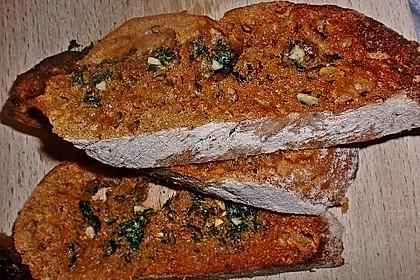 Miesmuscheln in Tomate mit geröstetem Knoblauchciabatta 18