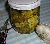 Eingelegter Schafskäse (Bild)