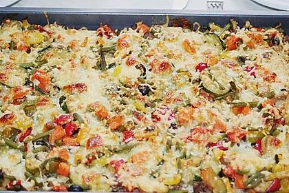 Kartoffelkuchen mit Lamm und Gemüse 4