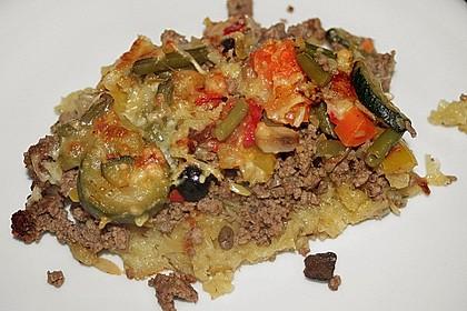 Kartoffelkuchen mit Lamm und Gemüse 1