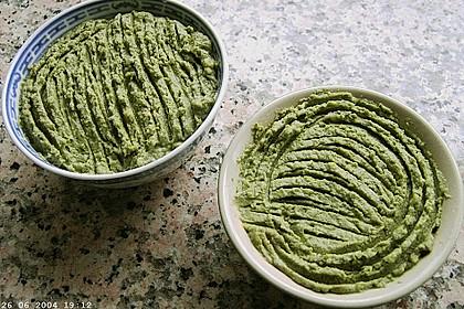 Grüne Knoblauch - Kartoffelcreme