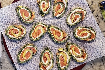 Lachs-Spinat-Rolle 89