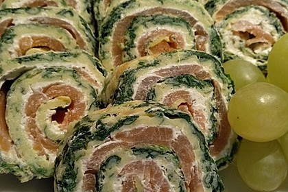 Lachs-Spinat-Rolle 8