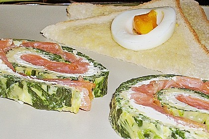 Lachs-Spinat-Rolle 131
