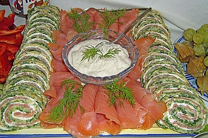 Lachs-Spinat-Rolle 69