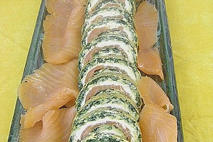 Lachs-Spinat-Rolle 105
