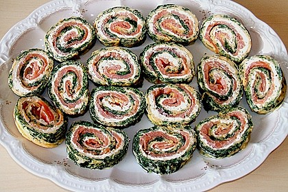 Lachs-Spinat-Rolle 113