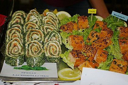 Lachs-Spinat-Rolle 95
