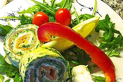 Lachs-Spinat-Rolle 70