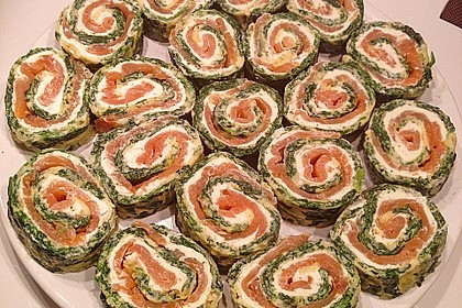 Lachs-Spinat-Rolle 50