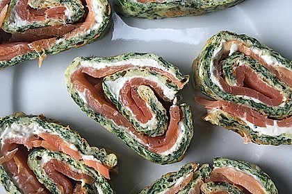 Lachs-Spinat-Rolle 101