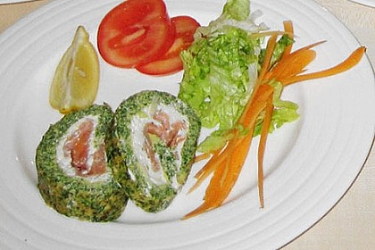 Lachs-Spinat-Rolle 134