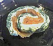 Lachs-Spinat-Rolle (Bild)