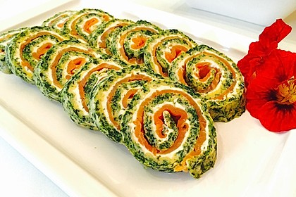 Lachs-Spinat-Rolle 6