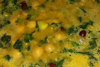 Arabische Kichererbsen-Spinat Suppe 25