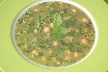 Arabische Kichererbsen-Spinat Suppe 13