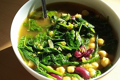 Arabische Kichererbsen-Spinat Suppe 3