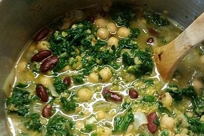 Arabische Kichererbsen-Spinat Suppe 22