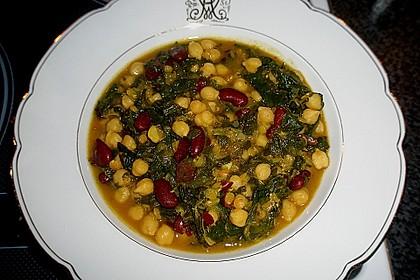 Arabische Kichererbsen-Spinat Suppe 9