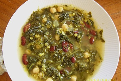 Arabische Kichererbsen-Spinat Suppe 21