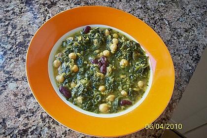 Arabische Kichererbsen-Spinat Suppe 17