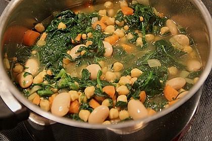 Arabische Kichererbsen-Spinat Suppe 4