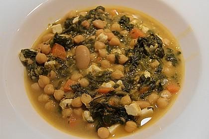 Arabische Kichererbsen-Spinat Suppe 11