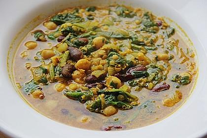 Arabische Kichererbsen-Spinat Suppe 8