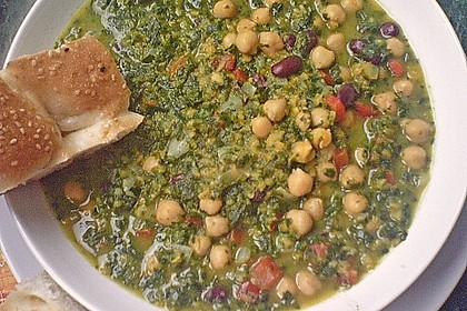 Arabische Kichererbsen-Spinat Suppe 18