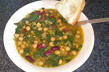 Arabische Kichererbsen-Spinat Suppe 14