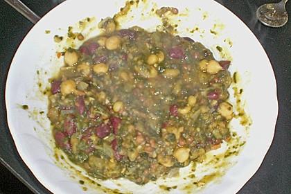 Arabische Kichererbsen-Spinat Suppe 30