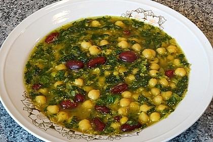 Arabische Kichererbsen-Spinat Suppe 2