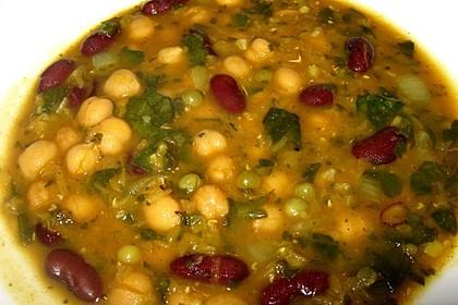 Arabische Kichererbsen-Spinat Suppe 10