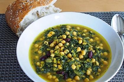 Arabische Kichererbsen-Spinat Suppe 1