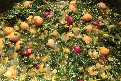 Arabische Kichererbsen-Spinat Suppe 18