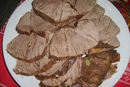Gekochtes Rindfleisch mit Remouladensauce
