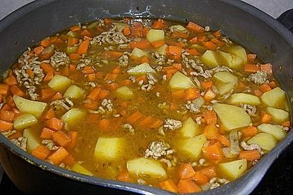 Curry mit Hackfleisch
