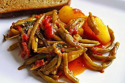 griechische bohnen mit kartoffeln und tomaten rezept mit bild. Black Bedroom Furniture Sets. Home Design Ideas